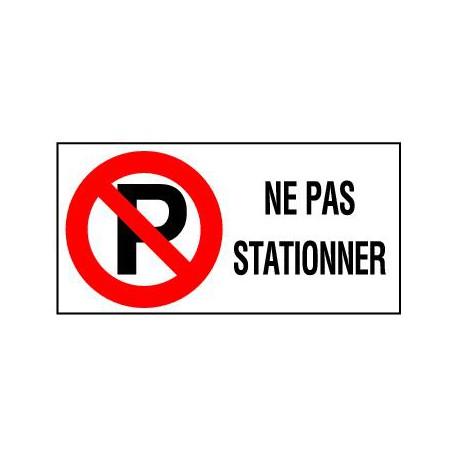 NE PAS STATIONNER + PICTO