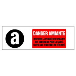 DANGER AMIANTE + PICTO