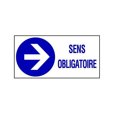 PANNEAU GRAND FORMAT SENS OBLIGATOIRE VERS LA DROITE + PICTO