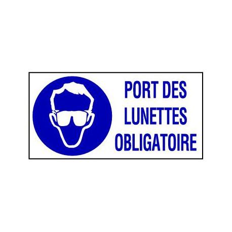 PANNEAU GRAND FORMAT PORT DES LUNETTES OBLIGATOIRE + PICTO