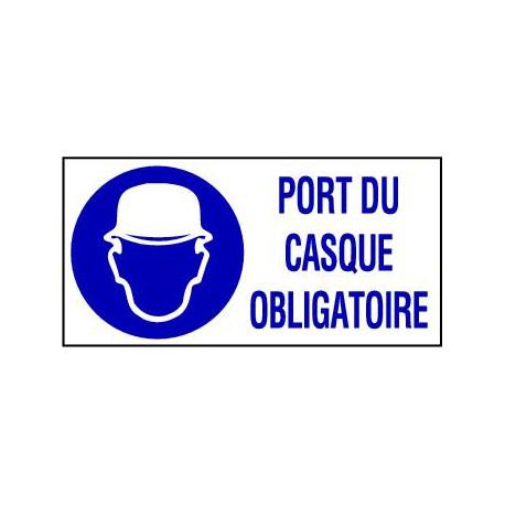 PANNEAU GRAND FORMAT PORT DU CASQUE OBLIGATOIRE + PICTO