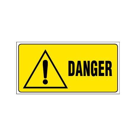 PANNEAU GRAND FORMAT DANGER + PICTO