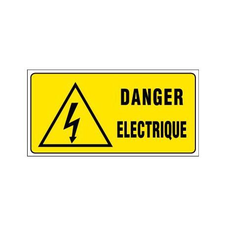PANNEAU GRAND FORMAT DANGER ELECTRIQUE + PICTO