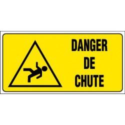 PANNEAU GRAND FORMAT DANGER DE CHUTE + PICTO
