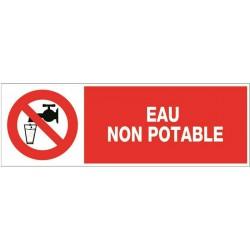 EAU NON POTABLE + PICTO