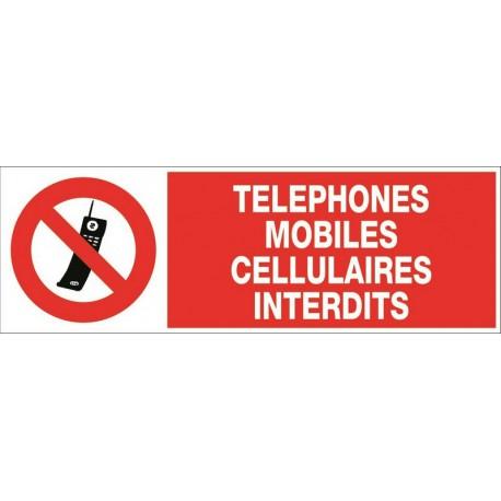 TELEPHONES MOBILES CELLULAIRES INTERDITS + PICTO