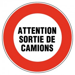 Attention sortie de camions