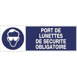 9ce9e8aa483713 PANNEAU PORT DE LUNETTES DE SECURITE OBLIGATOIRE + PICTO