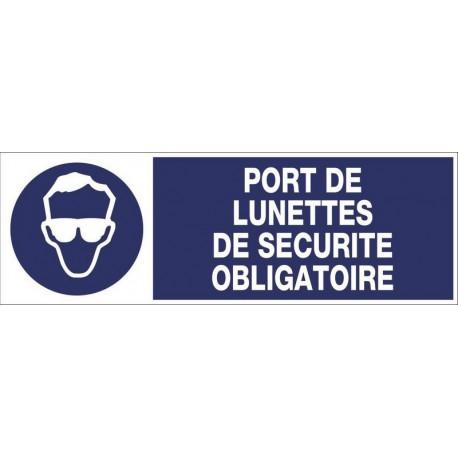 PANNEAU PORT DE LUNETTES DE SECURITE OBLIGATOIRE + PICTO