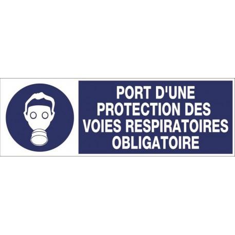 PANNEAU PORT D'UNE PROTECTION DES VOIES RESPIRATOIRES OBLIGATOIRE + PICTO