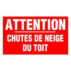 ATTENTION CHUTES DE NEIGE DU TOIT