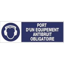 PANNEAU PORT D'UN EQUIPEMENT ANTIBRUIT OBLIGATOIRE + PICTO