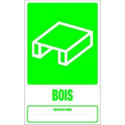 Panneau recyclage BOIS