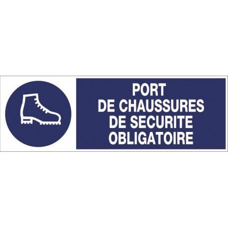 PANNEAU PORT DE CHAUSSURES DE SECURITE OBLIGATOIRE + PICTO