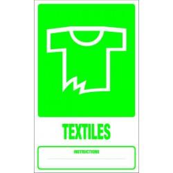 Panneau recyclage TEXTILES