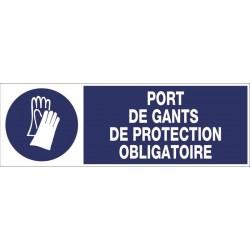 PANNEAU PORT DE GANTS DE PROTECTION OBLIGATOIRE + PICTO