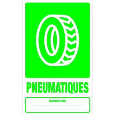 Panneau recyclage PNEUMATIQUES
