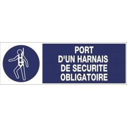 PANNEAU PORT D'UN HARNAIS DE SECURITE OBLIGATOIRE + PICTO