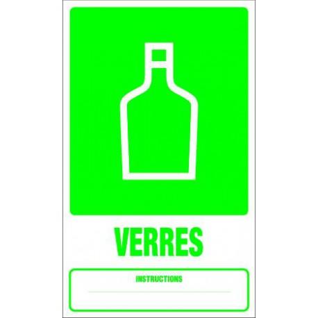 Panneau recyclage VERRES