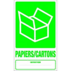 Panneau recyclage PAIERS/CARTONS