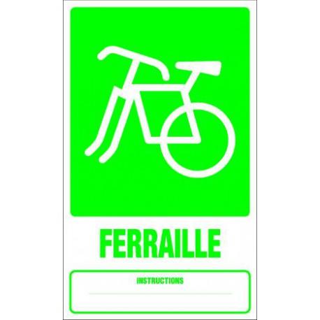 Panneau recyclage FERRAILLE