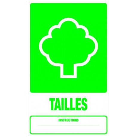 Panneau recyclage TAILLES