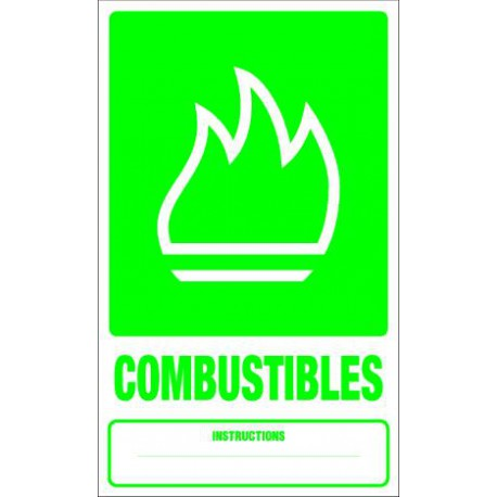 Panneau recyclage COMBUSTIBLES