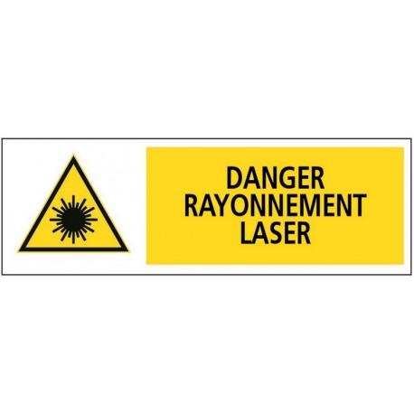 DANGER RAYONNEMENT LASER + PICTO