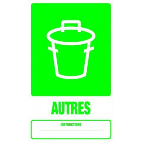Panneau recyclage AUTRES