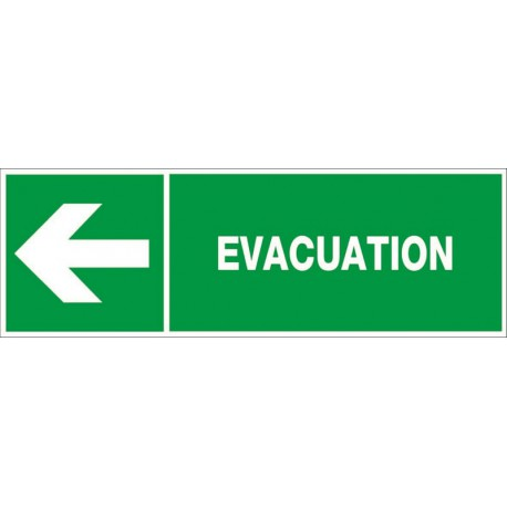 EVACUATION VERS LA GAUCHE + PICTO