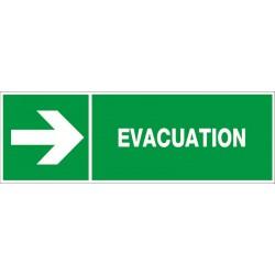 EVACUATION VERS LA DROITE + PICTO