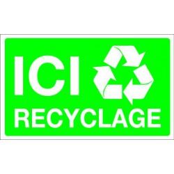 Panneau en polystyrène ICI RECYCLAGE