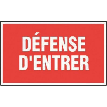 Défense d'entrer