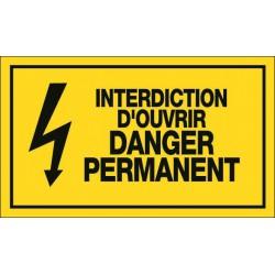 Interdiction d'ouvrir Danger Permanent