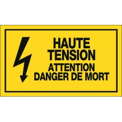Haute Tension Attention Danger de Mort