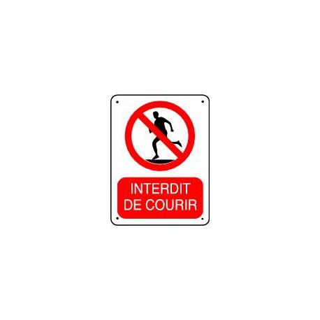INTERDIT DE COURIR