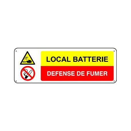 LOCAL BATTERIE  - DEFENSE DE FUMER