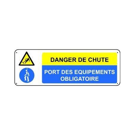 DANGER DE CHUTE  - PORT DES EQUIPEMENTS OBLIGATOIRE