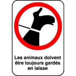 LES ANIMAUX DOIVENT ETRE TOUJOURS GARDES EN LAISSE