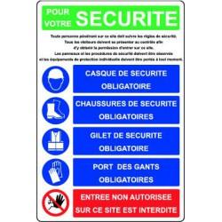 POUR VOTRE SECURITE...PORT DES EPI OBLIGATOIRE