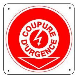 Panneau COUPURE D'URGENCE ELECTRICITE