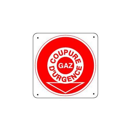 Panneau COUPURE D'URGENCE GAZ