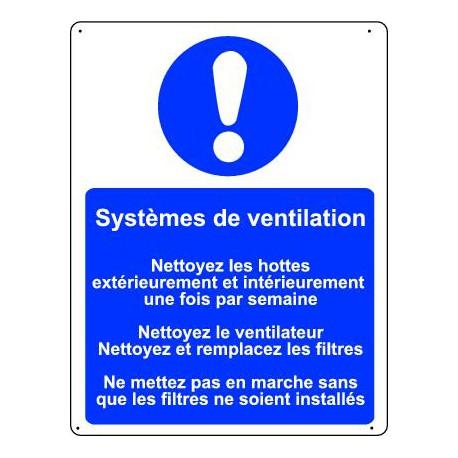 Panneau obligation SYSTEMES DE VENTILATION…