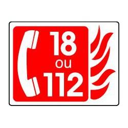TELEPHONE INCENDIE 18 OU 112