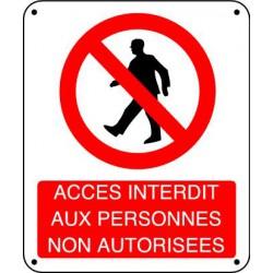ACCES INTERDIT AUX PERSONNES NON AUTORISEES