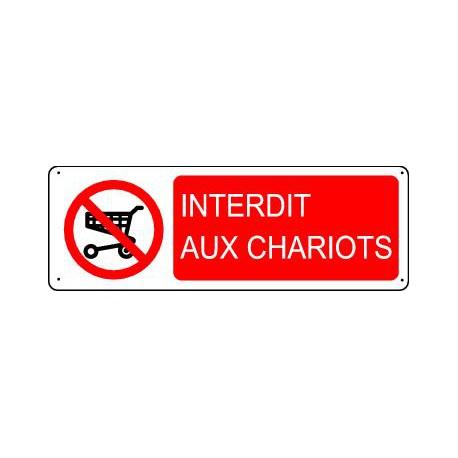 INTERDIT AUX CHARIOTS