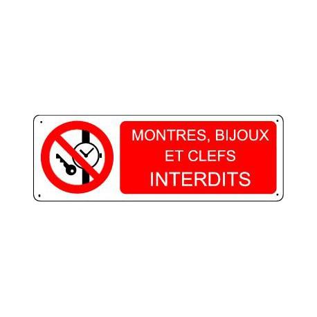 MONTRES, BIJOUX ET CLEFS INTERDITS