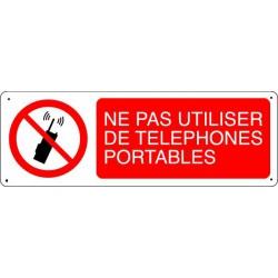 NE PAS UTILISER DE TELEPHONES PORTABLES