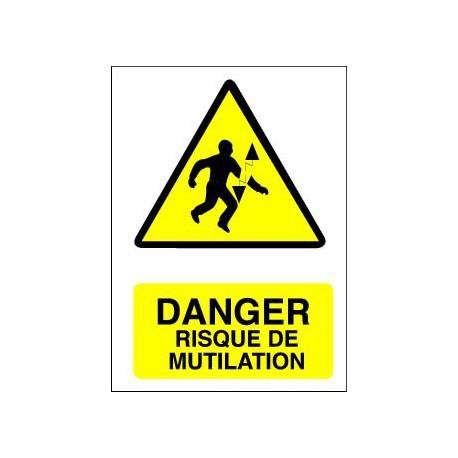 Danger RISQUE DE MUTILATION