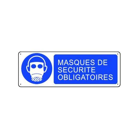 Panneau d'obligation MASQUES DE SECURITE OBLIGATOIRES